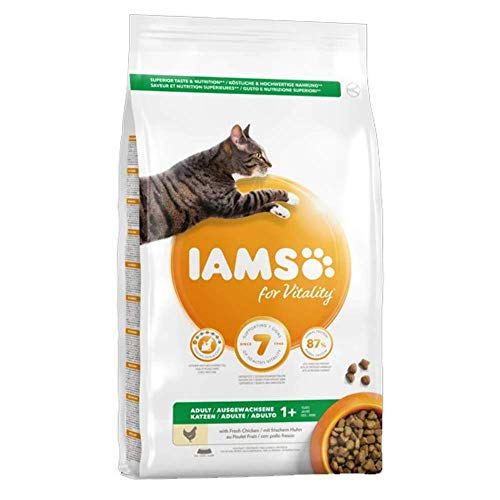Iams For Vitality Adult Cat Food With Lamb, 2kg