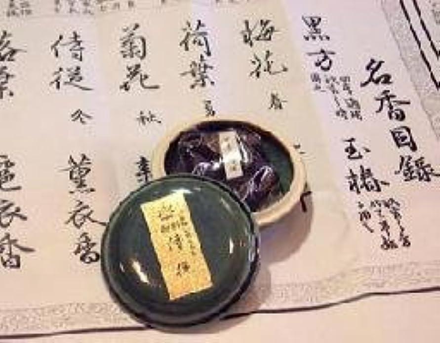 鳩居堂の煉香 御香 侍従 桐箱 たと紙 陶器香合11g入 #505
