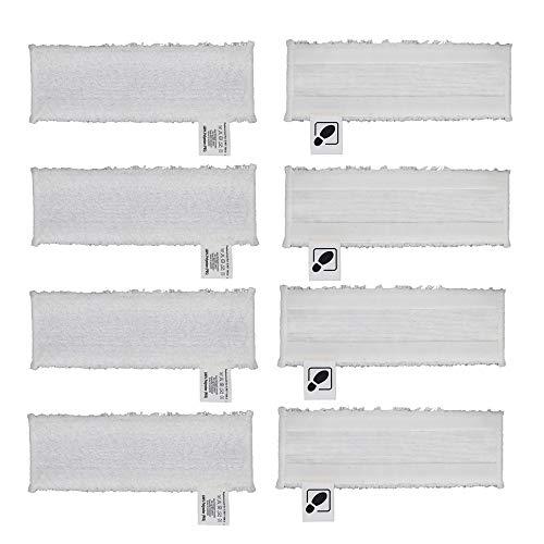 DEYF 8 hochwertiges Mikrofasertuch Set EasyFix Bodentücher für Kärcher Dampfreiniger SC2, SC 3, SC4, SC5 Bodendüse 3.2€/Stück