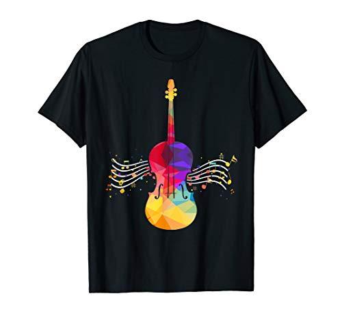 Geschenk für Cellisten Musik Musiker Violine Cello T-Shirt