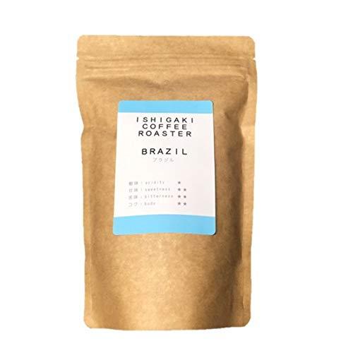 自家焙煎コーヒー180g ブラジル クラフト |自家焙煎工房 石垣珈琲 (挽き具合:粉(中挽き))
