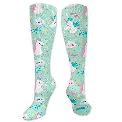 Calcetines de compresión de unicornio mágico para mujeres y hombres – los mejores calcetines de compresión para correr, hacer ejercicio y Navidad