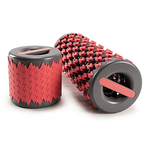 LOFOO SPORT foladable Roller Deep Tissue Massager for ExerciseMuscle MassageRecovery and Myofascial Trigger Point ReleaseAdjustable Massage Roller
