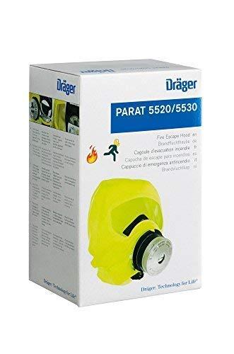 Dräger 5530 Parat Brand-Fluchthaube im robusten Hard Case | Effektive Rettungshaube zum Schutz vor Brandgasen, Kohlenmonoxid (CO) - 3