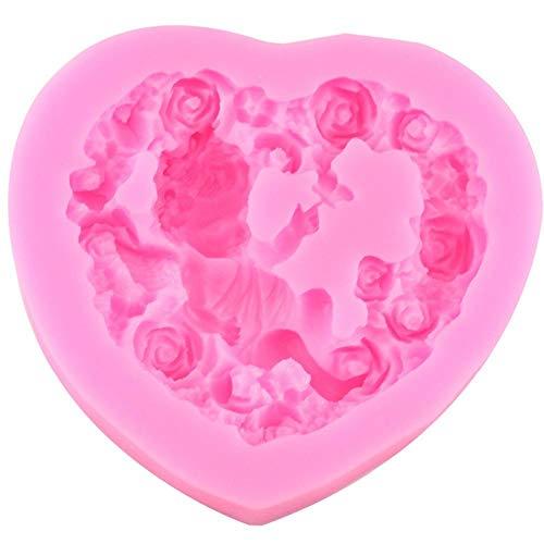 Vormen Rose Angel Craft Art Silicone zeepvorm 3D Craft kaars hars kleivormen chocolade fondant cake decoreren gereedschappen