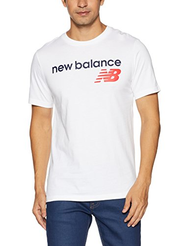 New Balance Herren Mt73581 T-Shirt, Weiß (White WT), Large