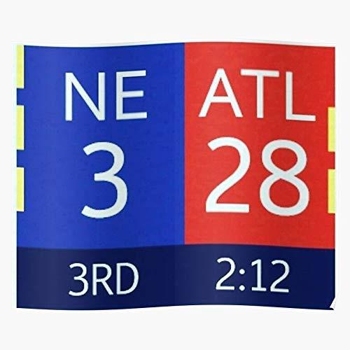 3 Patriots 28 Falcons Bowl Super Blew 51 Trendy Poster for Wall Art Home Decor Room