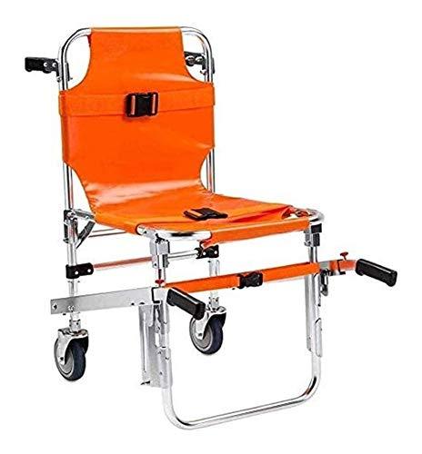 EMS Stair Chair - Leicht und Faltrahmen Aluminium Licht Aufzug Treppen Stuhl Ambulance Feuerwehrmann Evakuierung Strecke Treppenlicht Treppensteigen Rollstuhl mit Schnellverschlüssen