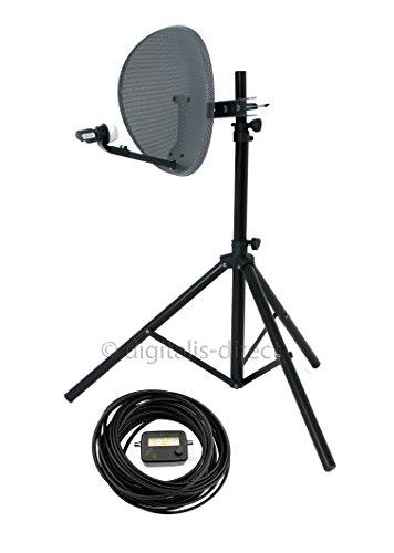 Digitalis Direct Satellite Tripod, Satfinder and Sky Dish Full DIY Kit for Caravan