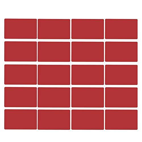 50st aluminiumlegering visitekaartje gegraveerde kleur blanco visitekaartjes visitekaartjes visitekaartje(#3)