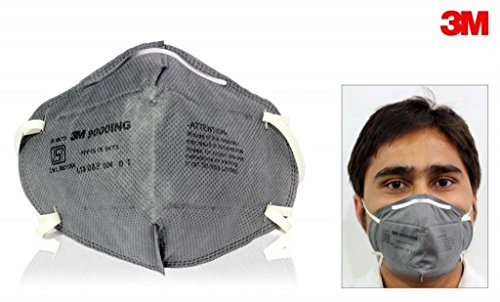 3M Anti Pollution Non-woven Fabric Riding Respirator (Grey, Free Size) - Pack of 5