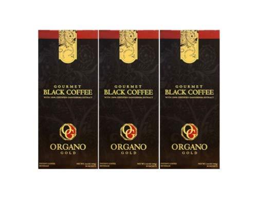 Organo Gold GOURMET BLACK COFFEE Café NOIR (30 Sachets) (3)