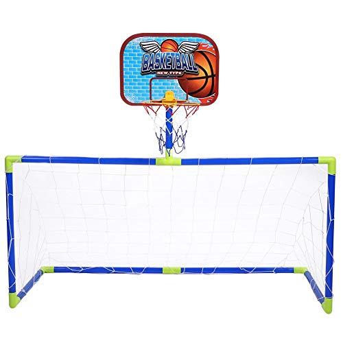 VGEBY Mini-basketbalframe, speelgoed, basketbalbord, doelcombinatie, set met kogelpomp voor kinderen, indoor, sport, spel