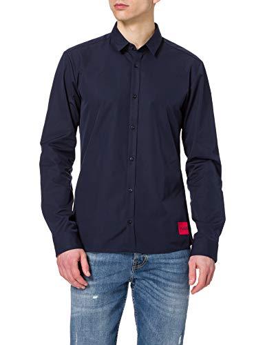 HUGO Ero3-W 50431923 Camisa, Dark Blue (405), L para Hombre