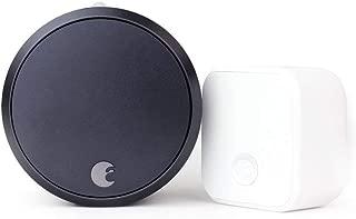 August Smart Lock Pro + Connect, 3rd gen technology - Dark Gray, Compatible with Alexa (Renewed)