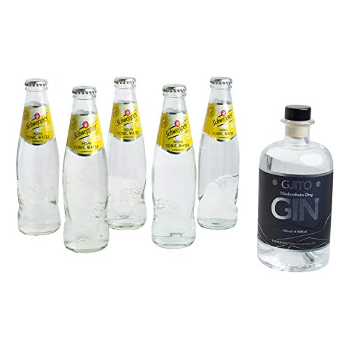 1x 0,5l GJITO Dry Gin + 5x SCHWEPPES INDIAN Tonic Water 200 ml - DRINK SET