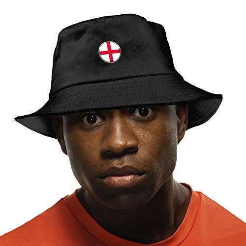 Arehji - Sombrero de protección UV para el sol, unisex, plegable, color negro