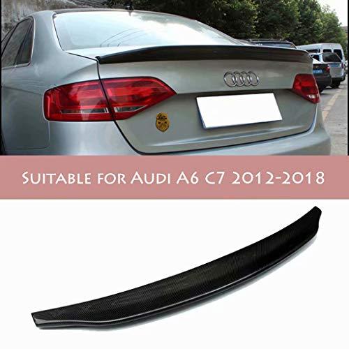 QCWI Spoiler de Maletero El alerón del Maletero del automóvil Que se Puede Instalar es Adecuado para el alerón Trasero de Fibra de Carbono de Estilo Belga Modificado por Audi A6 C7,2011-2018.