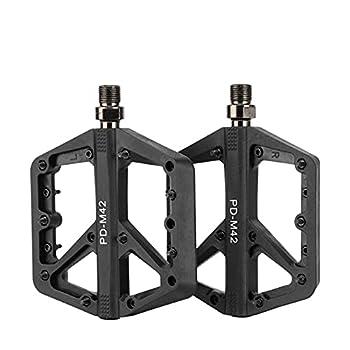 VUNDO BMX Pedals 9/16 Bike Flatform MTB Pedals Flat Bicycle Pedals Metal for Mountain Road Shimano Bike-Black