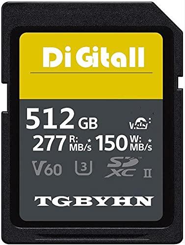 Professional 512 GB SD Memory Card UHS-II Class 10 Speicherkarte SDXC C10, U3, Datenspeicher, ideal für DSLR-Kameras und Advanced Camcorders (512 GB)
