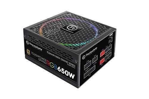 Thermaltake Toughpower Grand 650W RGB 80+ Gold *RGB Sync Edition* / Unità di Alimentazione Digitale da 650W, Nero