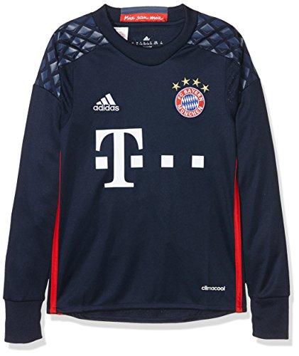 adidas Jungen Torwart/Heim-trikot FC Bayern München Replica heimtrikot, Night Indigo/Red/Night Marine, 176