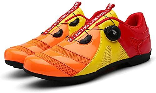 CPBY Zapatos de Deportes de Deportes cómodos Transpirables al Aire Libre Zapatos de Montar Planos Zapatos de Bicicleta de Bicicleta Zapatos de Carretera Zapatos de Montar