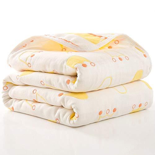 FANLIR comfortabele grote babydeken van 100% katoen, 110 x 110 cm, milieuvriendelijk, ademend badhanddoek, pluizige, zachte deken 13