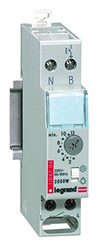 Legrand, Treppenlicht-Zeitschalter Rex800Multi, 230 V, 50/60 Hz, 1-modulig für Hutschiene mit separatem Steuerspannungseingang, 004704