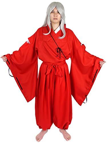 CoolChange Inu Yasha Kariginu Cosplay Kostüm, Jacke und Hose, Kimono Rot, Größe: M