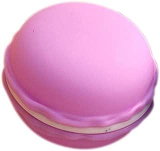 TLZR Caja de Almacenamiento con Forma de Macaron Collar Creativo Pendientes Caja de Anillo portátil Multifuncional contenedor de Pastillas Organizador de joyería Big Purple
