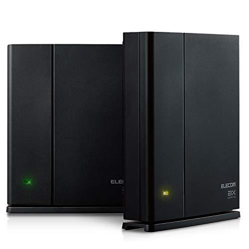 エレコム メッシュ WiFiルーター 無線LAN 親機+中継器セット WiFi6 11ax 1201+574Mbps IPv6(IPoE)対応 ...