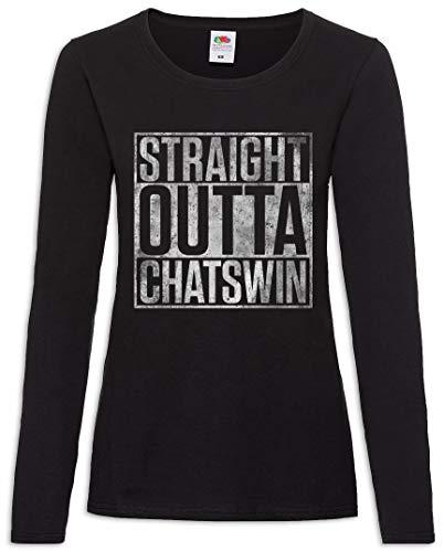 Urban Backwoods Straight Outta Chatswin Dames T-Shirt Met Lange Mouwen