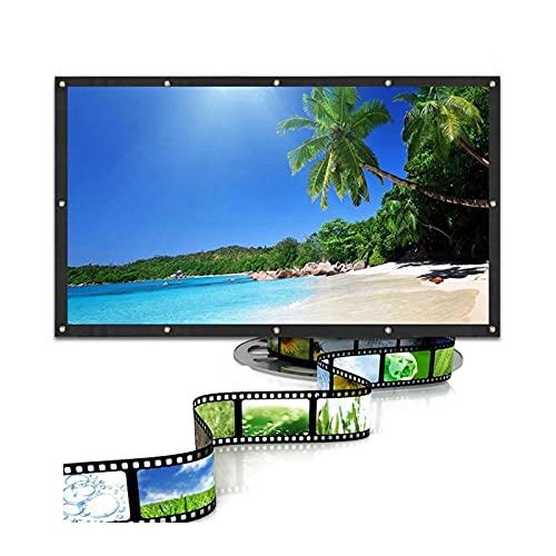 Gwendolyn 60/72/84/100 / 120inch Películas proyectores Películas de Pantalla 3D Proyección montada en la Pared Pantalla LED 16: 9 para el Cine en casa (Size : 84 Inch)