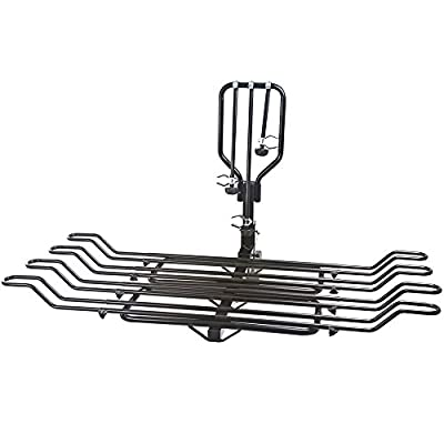 """Rage Powersports Elevate BC-08581-2A-2EXT 2-4 Bike Adjustable Wheel-Mount Bicycle Rack for 2"""" Hitch"""