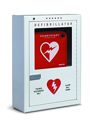 Philips HeartStart AED Defibrillator Premium Wall Cabinet, 16