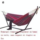 Chaise Suspendue Double hamac, pour Cour de Jardin à l'intérieur, sans Support, Conception épaissie et élargie