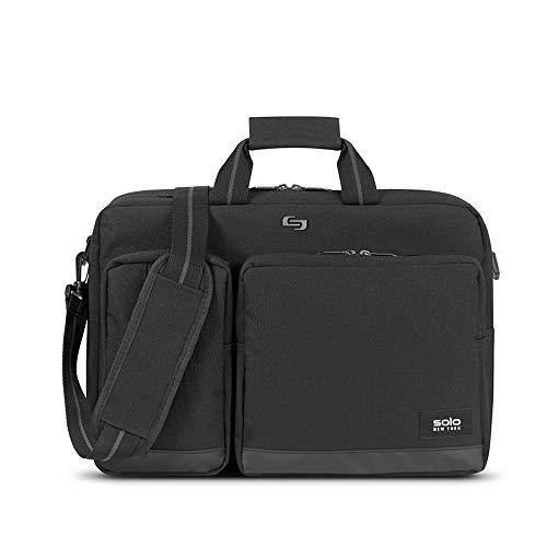 Solo New York Duane Hybrid Convertible Laptop Briefcase, Black, One Size