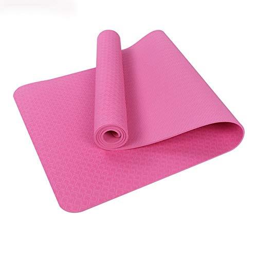 Home Gyms Yoga-Matte geschmacklos Fitness-Matte Sportmatte rutschfeste Yogamatte (1 Satz von 2 Stück) (Color : Pink)