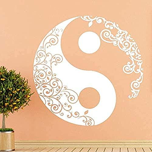 Bellamente Art - Pegatinas de pared para pared, tatuajes de pared, pósteres para el hogar, yoga, diseño de mandala, indio, redondo, P, símbolo de tern, decoración de la habitación de 57 x 57 cm