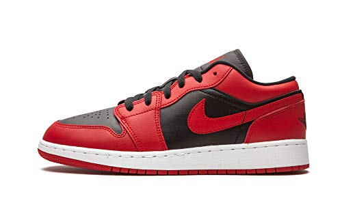 Nike AIR Jordan 1 Low (GS) Basketballschuh, Gym Red Black White, 40 EU