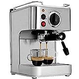 GAOFQ Máquina de café Comercial semiautomática de 19 Barras de Acero Inoxidable Que Puede Hacer Cappuccino Latte Black Steam Coffee 5 Tazas