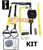 Fitness FSSSPXMG Kit Suspension Strap Correas de entrenamiento de resistencia + Soporte de anclaje d...