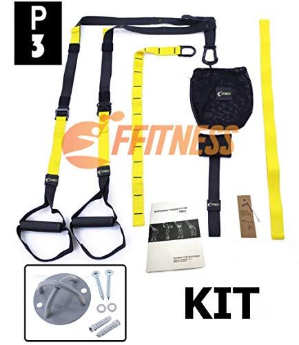 FSSSP3XG Suspension Strap Cinghie Allenamento di Resistenza in Sospensione con Peso corporeo   Fitness Trainer Nylon Band