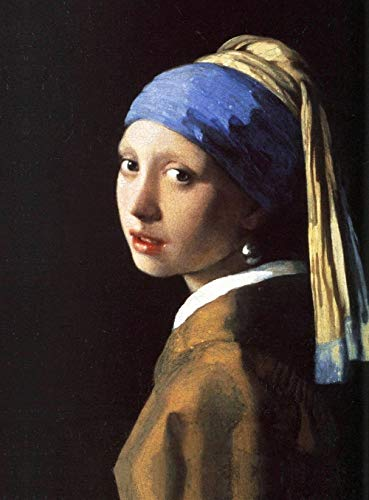 Legendarte P-091b afbeelding De jongen van de parel (Muchacha met turband). Digitale druk op canvas. Jan Vermeer Schilderij, meerkleurig, 50 x 70