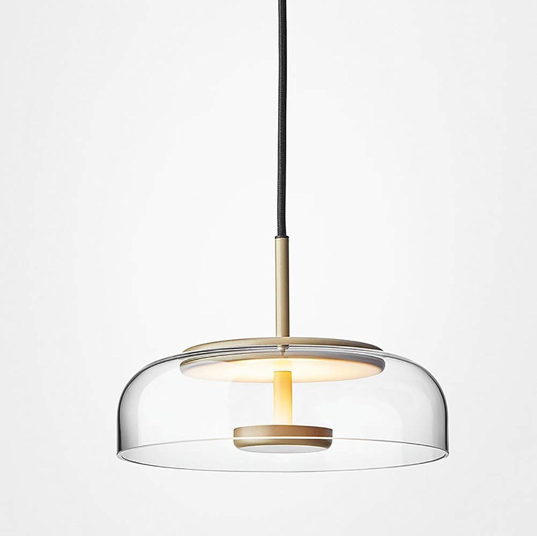 Feng tata Nordic Glass Chandelier, Kreativer minimalistischer Wohnzimmer-Kronleuchter Spezieller Schlafzimmer-Esszimmer-Kronleuchter aus Glas, Gold Transparent Grau,Transparent