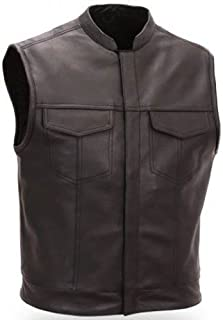 Bikers Gear Australia Sons of Anarchy Style Men's Premium Leather Vest