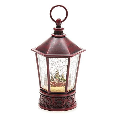 Christmas Light-Up Snow Globe Lantern, 10.25', Red Truck
