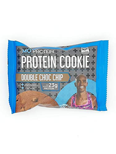 Mo Farah Protein Cookie Double Chocolate 75g – Pack of 12 – Packed with High-Quality Protein for Your Weight Management. Exquisite Taste and High-Quality Protein