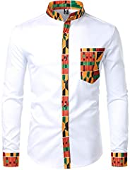 Washing: Hand wash water temperature below 40¡æ/Do not bleach/Drip flat drying in the shade/Normal dry Cleaning Stylish African-inspired Dress Shirts:Bold Prints/Lightweight/Breathable/Stretchable fabric ensures more flexibility when moving Suitable ...